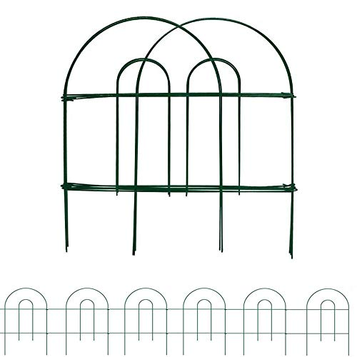 MTB Green Garden Border Folding Fence Lawn Yard Fence 18 Inch x 8 Feet,Pack of 5 Set, Overall Length 40 Feet,Landscape Panel,Folding Patio Fences Flower Bed Pet Barrier Section Panel Decorative Fence