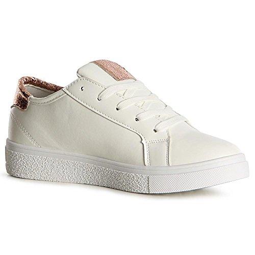 Or Femmes Topschuhe24 Chaussures De Sneaker Sport wg7CX7WqR
