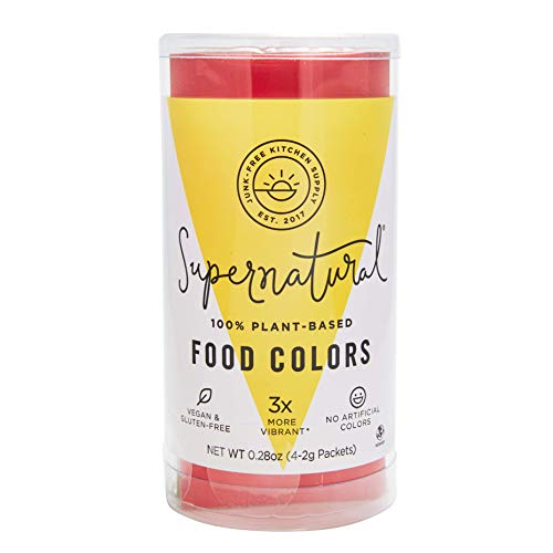 Supernatural Food Coloring, All Natural, Plant Based, Gluten Free, Kosher, Non GMO, Vegan, No Artificial Colors, Variety Pack