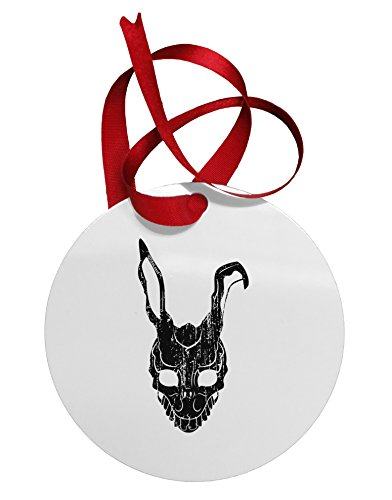 TooLoud Scary Bunny Face Black Distressed Circular Metal (Donnie Darko Rabbit Costume For Sale)