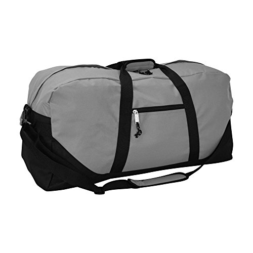 "DALIX 25"" Big Adventure Large Gym Sports Duffle Bag in Gray"