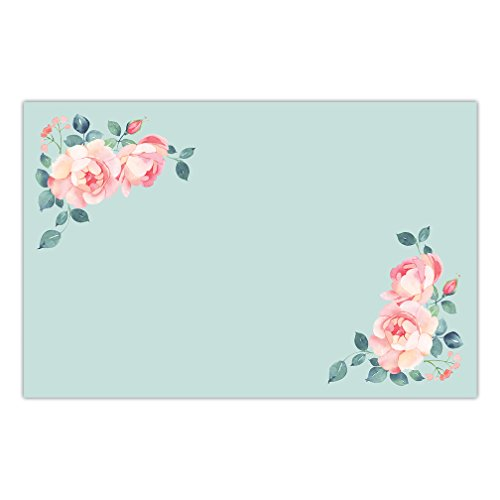 DB Party Studio Paper Placemats 25 Pack Disposable Place Settings For Dinner Banquet Parties Watercolor Floral Peonies Place Mats Easy Cleanup Table Plate Decoration 17