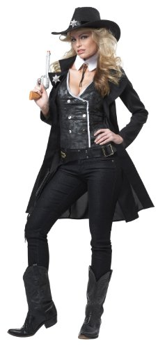 California Costumes Women Round Em Up Costume, Large, Black (Western Costumes)