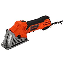 Mr. Orange MCS89MBAG Mini Circular Saw Kit - All-in-One Miter, Band, Hand, Circular and Jigsaw - Lightweight, Portable - Ultra-Strong Motor with Precision Cutting Power - with Miter-Guide Base