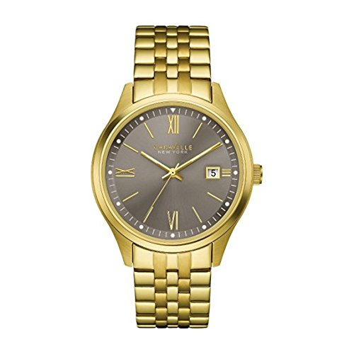 Bulova-Mens-Quartz-Stainless-Steel-Casual-Watch-ColorGold-Toned-Model-44B111