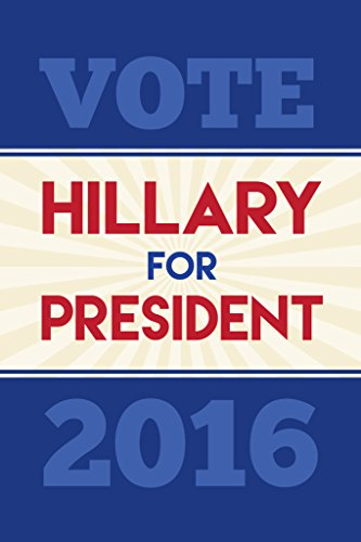 Vote Hillary Clinton President 2016 Tan Navy Red Campaign Poster