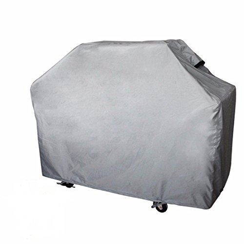 Leader Accessories Grey Heavy Duty Waterproof Outdoor Gas BBQ Grill Cover up to 64 Inch for Weber, Char Broil, Brinkmann, Jenn Ai