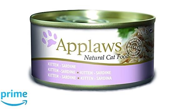 Applaws lata Kitten Sardine, 24 unidades (24 x 70 g): Amazon.es: Productos para mascotas