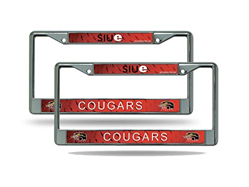 Rico SIUE Cougars NCAA Chrome Metal (2) License Plate Frame Set