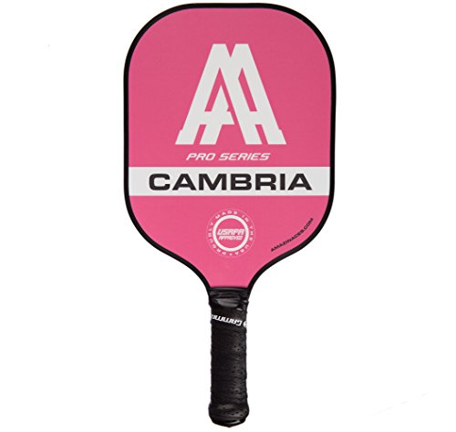 Amazin' Aces 'Cambria' Pickleball Paddle (Pro Series) | Composite Racket - Advanced Polymer Core with Polycarbonate Face & Premium Gamma Grip | Made in The USA | USAPA Approved (Pink)