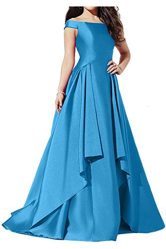 Ivydressing Glamour Neu Satin Abendkleider Neu Ballkleider Lang Partykleid  Blau UIH5m4a8Y
