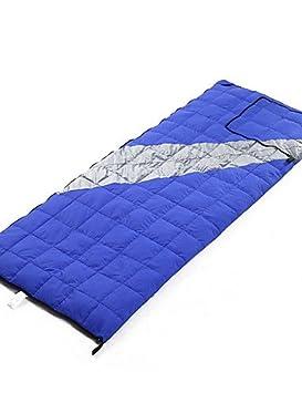 Saco de dormir rectangular bolsa única -2 - 13 plumón de pato 500 g 200 cmx78 cm Camping/Viajes/al aire libre, azul: Amazon.es: Deportes y aire libre