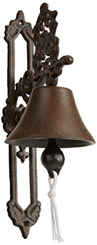 - Esschert Design Classic Style Antique Cast Iron Doorbell, Brown