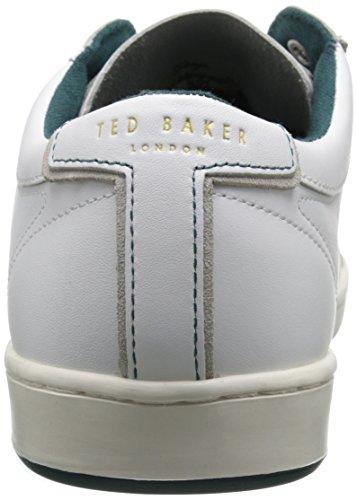 Ted Baker Mens Theeyo Tre Mode Sneaker Vitt Läder