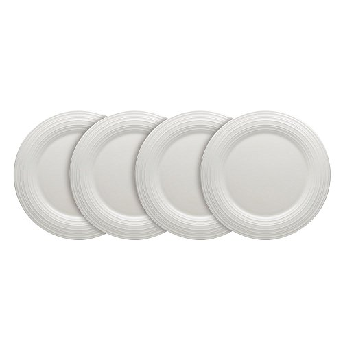 Mikasa Swirl White Set of 4 Round Salad Plates