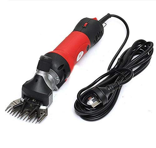 TQ Professional Heavy Duty Electric Shearing Clippers, for Shaving Fur Wool in Sheep, Goats, Cattle, and Other Farm Livestock Pet, with Grooming Carrying Case,Red
