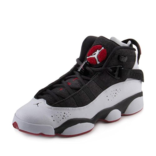 Nike Jordan Kids Jordan 6 Rings BG Black/White Gym Red Black Basketball Shoe 5.5 Kids US Air Jordan 6 Rings