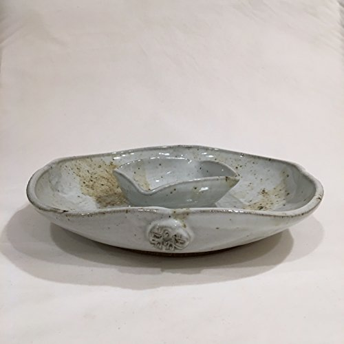 Chip and Dip Platter, Handmade Ceramic Platter, Ceramic Chip And Dip, Pottery platter