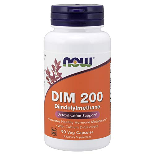 NOW Supplements, DIM 200 (Diindolylmethane) with  Calcium D-Glucarate, 90 Veg Capsules