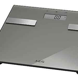 AEG PW 5644 7-en-1 de diseño de una báscula de baño Badwaage báscula Peso báscula Digital de-cepilladoras Base Grasa Corporal-hasta 180 kg ...