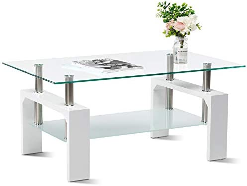Smile Back Glass Coffee Table 39.4 Coffee Tables