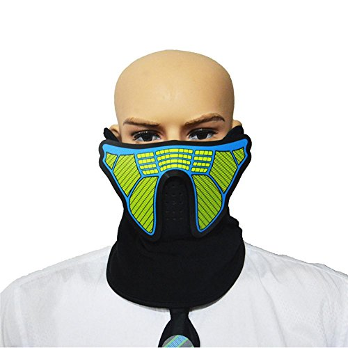 LEDLuminousFlashingMask LED Dust Mask Luminous Mouth Mask Men Women Rave Mask Music Party Christmas Halloween Light Up Mask Headgear by Samber]()