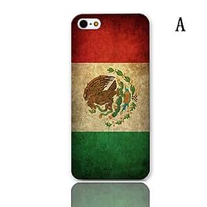 HOR Patrón de la serie de la bandera de la vendimia del estuche rígido con paquete de 3 protectores de pantalla para iPhone 5/5S , H