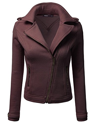 Solid Pocket Thickened Color Long Coat Size Brown Big Zipper Sleeve XL Lapel DYF qW51z4wW