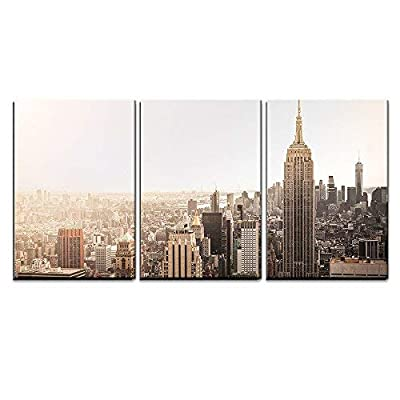 Created Just For You, Marvelous Piece, Empire State Building in New York x3 Panels