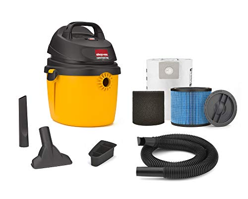 Shop-Vac 2.5 Peak Hp Portable Contractor Wet Dry Vacuum – 5892210, 2.5 gallon