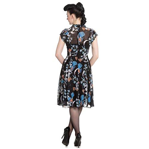 Bunny Rockabilly Retro Starry Vestido Hell 1940s Night Tarde Vintage Pájaro De Floral dZqxxHCF