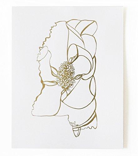 Thimblepress® Mississippi Magnolia Gold Foil State Flower 11 x 14 - Mississippi State Flower Magnolia