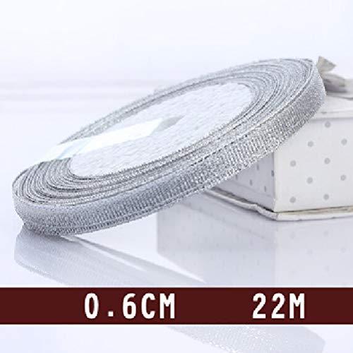 Ribbons - 25 Yard 22m Handmade Glitter Ribbon Metallic Luster Wedding Decoration Webbing Invitation Card Gift - Curtain Most High Small Round Bags Luster Zipper Ruffled Indecence 50pcs Treat Aisl