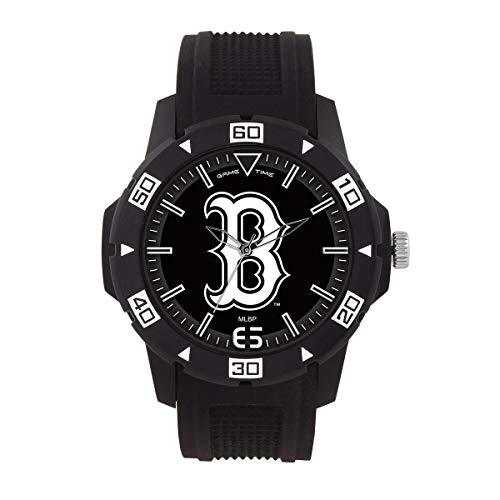 Game Time MLB- Boston Red Sox Automatic Series Watch, Black, 49.50mm