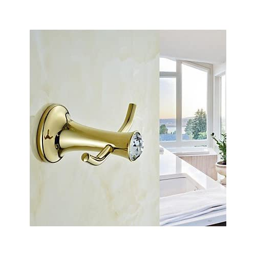 qiuxi Modern bathroom accessories Contemporary Ti-PVD Wall Mounted Robe Hooks cheap