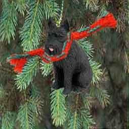 Giant Schnauzer Miniature Dog Ornament - Black