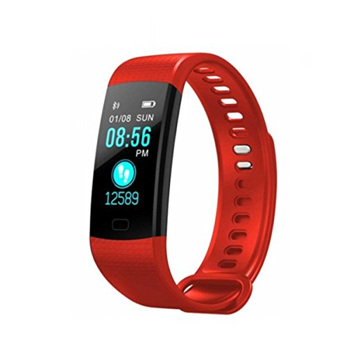 新品 Fitness Tracker Activity Tracker Watch with Heart Rate Monitor, IP67 Waterproof Smart Bracelet with Calorie Counter Pedometer Watch for Android and iO (red1)