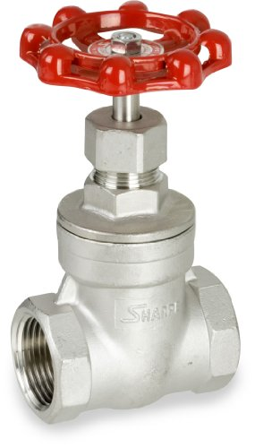 Sharpe Valves 30276 Series Stainless Steel 316 Gate Valve, Class 200, Non-Rising Stem, Inline, 1-1/4'' NPT Female by Sharpe Valves