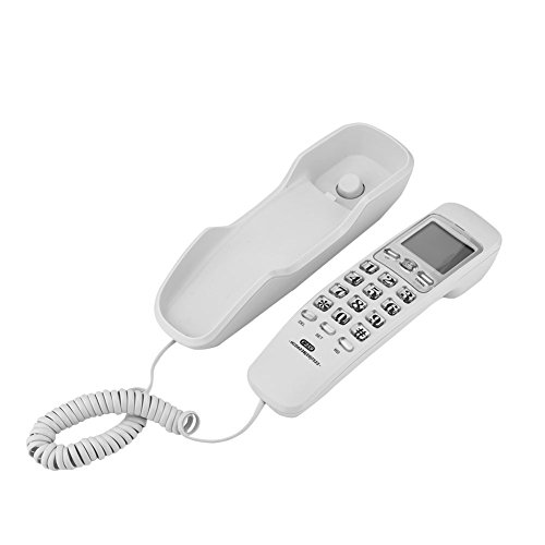 Home Telephone Speed Dial Phone Call Search Non-Interference Corded Phone Landline Fashion with Call Display(Not Wall ()