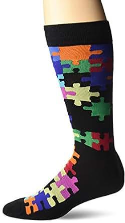 K. Bell Socks Men's Jigsaw Puzzle Crew