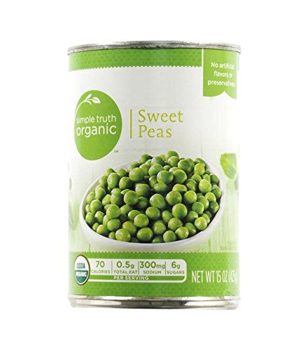 Simple Truth Organic Sweet Peas 15 oz (Pack of 6) by Simple Truth