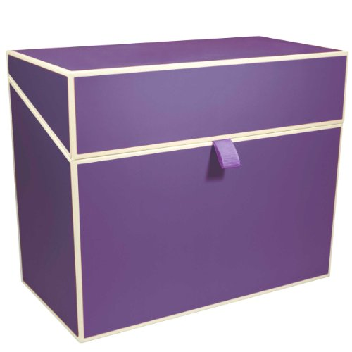 Semikolon Letter/A4 Size File Folder Box, Plum (Lilac File Folders)