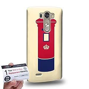 Case88 [LG G3] 3D impresa Carcasa/Funda dura para & Tarjeta de garantía - Art London Cityscape London LetterBox