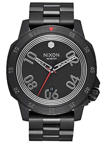 (Nixon Men's Star Wars Kylo Japanese-Quartz Watch with Stainless-Steel Strap, Black, 22 (Model: A506SW2444-00)