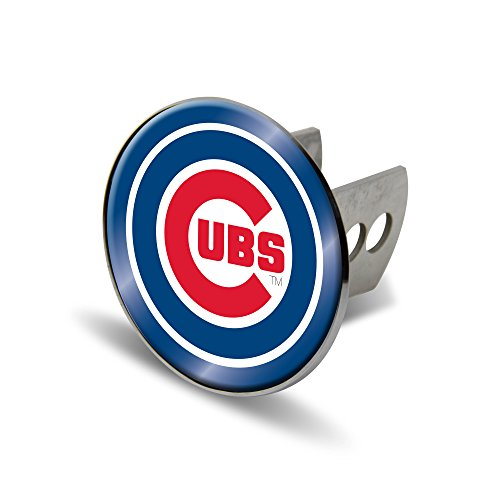 MLB Chicago Cubs Laser Cut Metal Hitch Cover, Large, (Mlb Truck Trailer Hitch Cover)