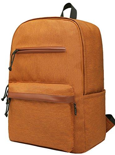 Gysan School Backpacks College Casual Daypack Lightweight Water Resistant Rucksack Travel Backpack Fits 15.6 Inch Laptop, Golden - Orange P