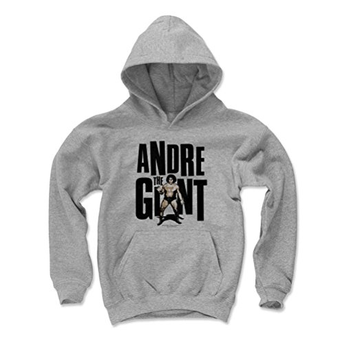 500 Level Andre The Giant Kids Youth Hoodie M Gray - Andre The Giant Compact K - Officially Licensed by Pro Wrestling Tees by 500 Level