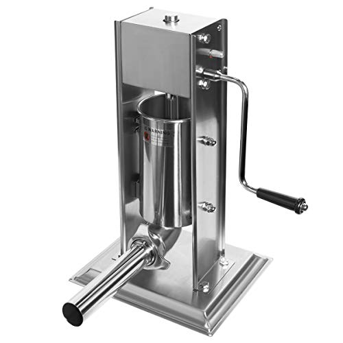 XtremepowerUS Vertical Stainless Steel Sausage Stuffer Maker Meat Filler