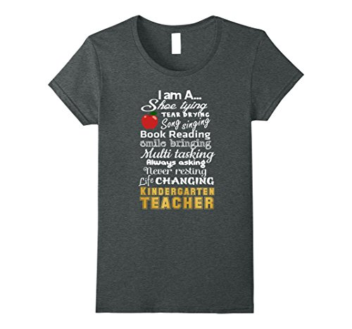 Womens I'm A Shoe Tying Tear Drying - Kindergarten Teacher T-Shirt XL Dark - Teacher Tshirts Kindergarten