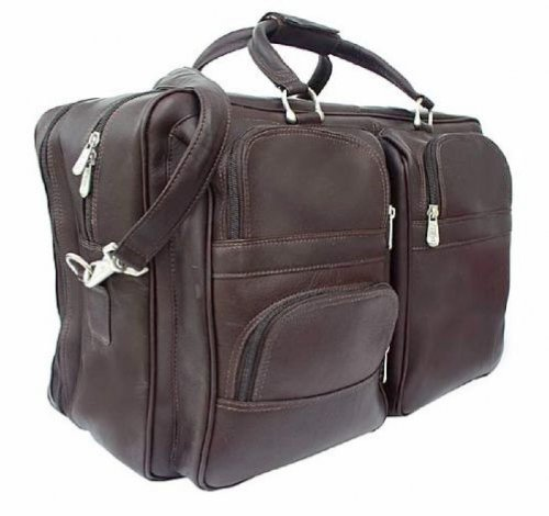 Piel Leather Complete Carry-All Bag, Chocolate, One Size by Piel Leather